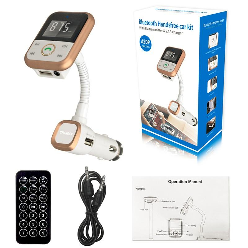 New Multifunction 3 in 1 Car Bluetooth Kit SD Card Mp3 Player and Charger  FM Transmitter BT67