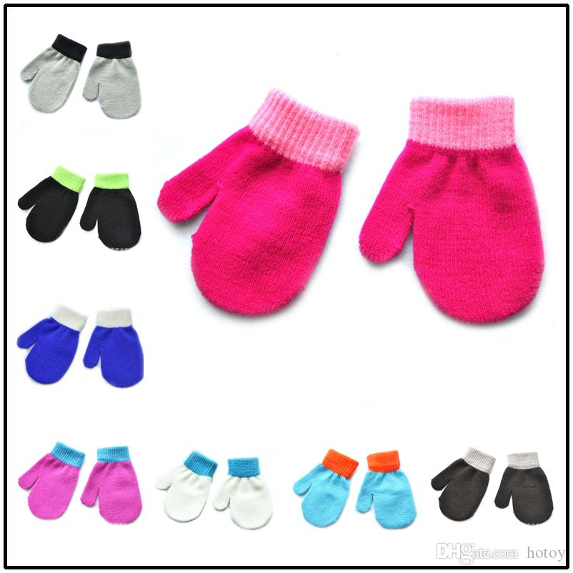 2017 New Baby Gloves Knitting Winter Autumn Crochet Warm Glove ...