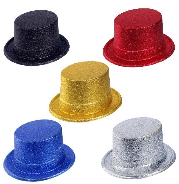 9d1313c23c501 Glitter Sparkle Lincoln Top Hat Burlesque Dance Fancy Dress Party ...
