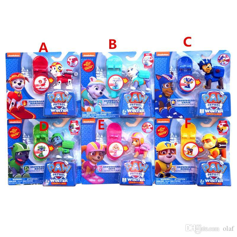 Discount Paw Patrol Toys With Snowboard Skye Marshall Chase Rocky Rubble  Everest Paw Patrol Figures Paw Patrol Toys Best Toys For Kids Bk033 From  China ...