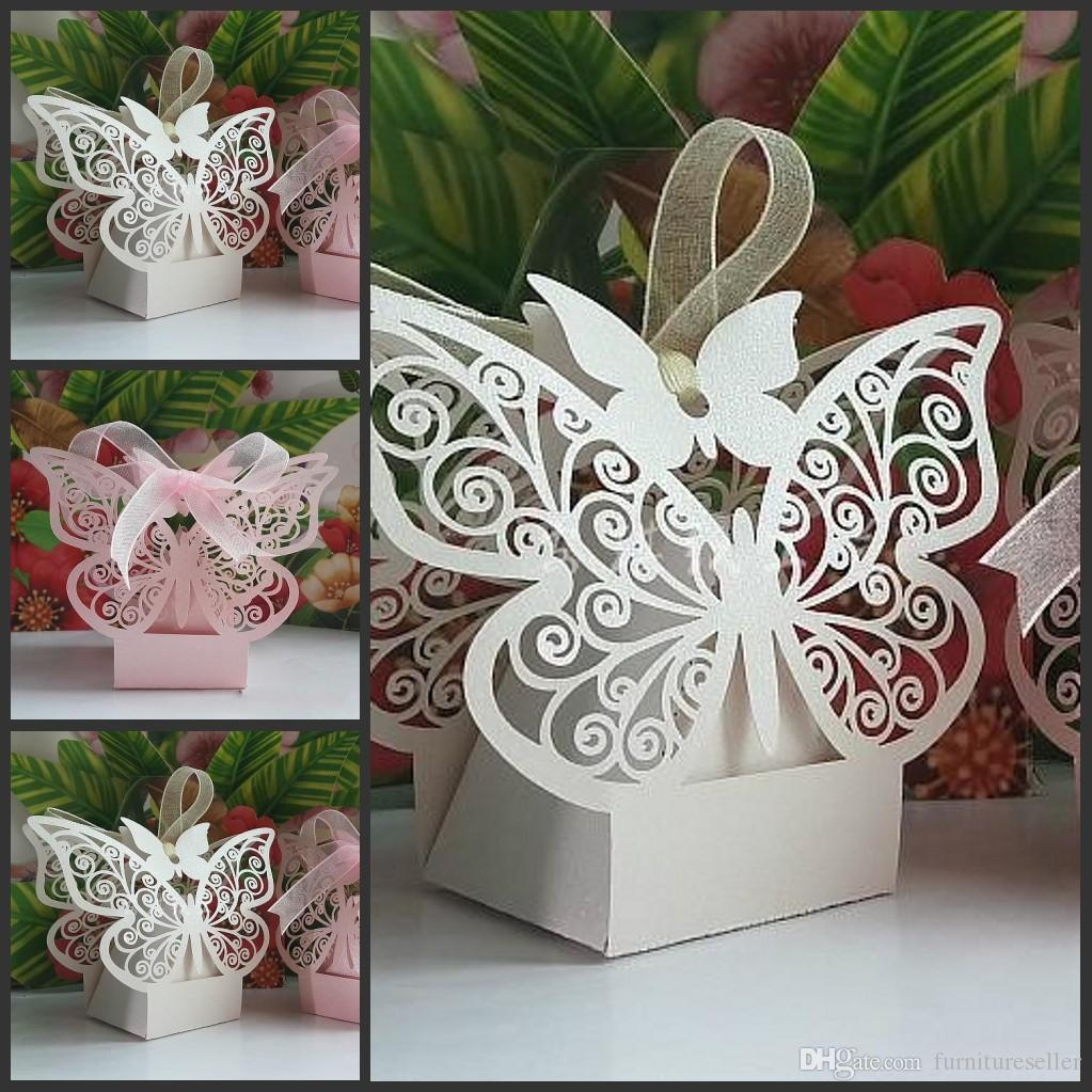 2015 New Wedding Favor Butterfly Laser Cut Wedding Candy Boxes Gift ...