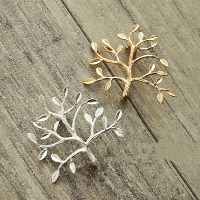 Unisex DIY Delicado Ramos Moda Ouro / Prata Broto de Árvore Pin Broche Homens Mulheres Collar Broche Pinos de Jóias Por Atacado