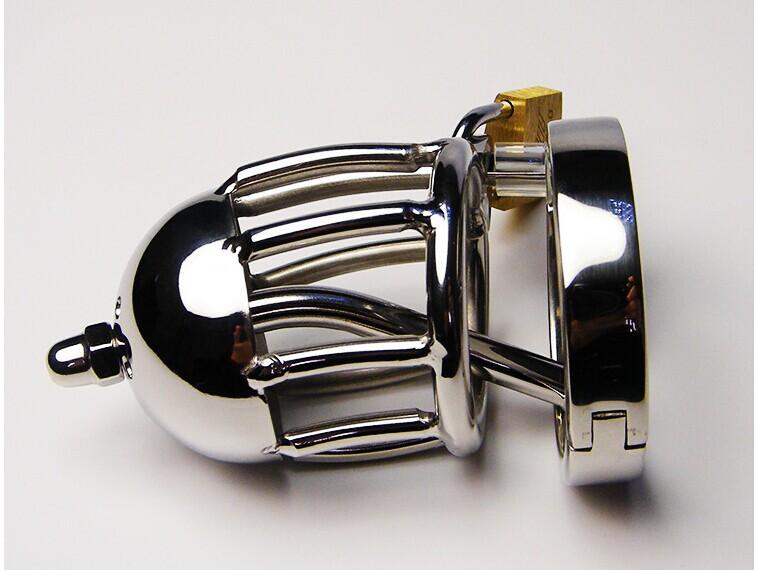 Новый прибыл малый размер мужской нержавеющей стали ремесло целомудрие устройство петух клетка с уретры звуки катетер вилка мужчины секс БДСМ игрушки