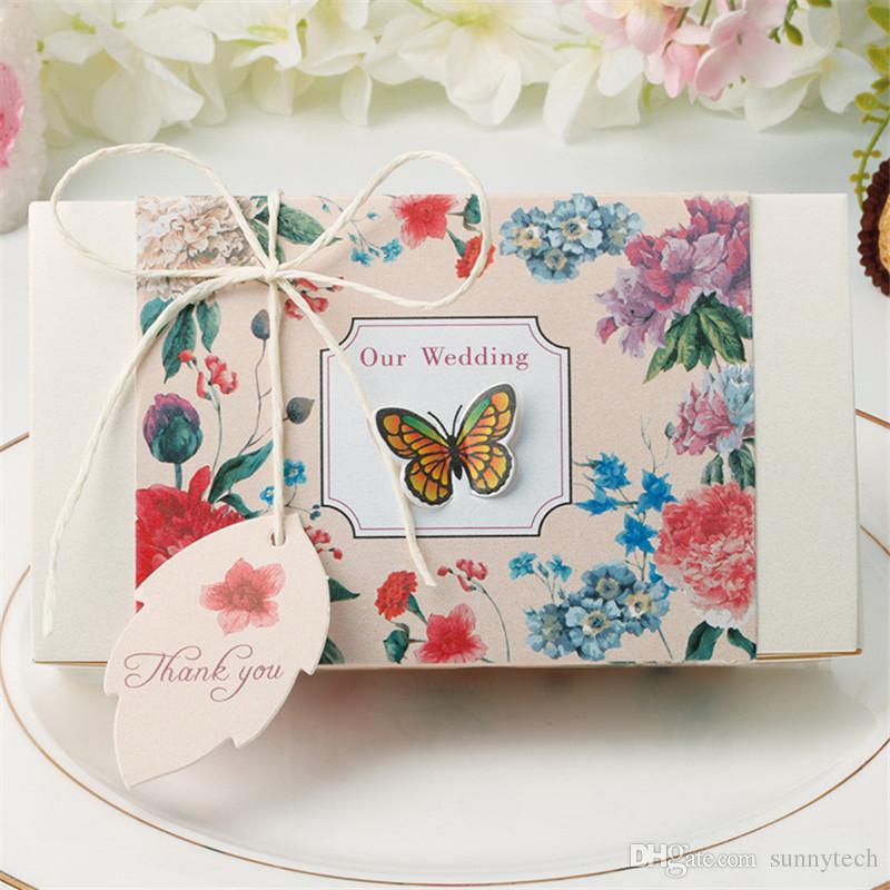 Большая бабочка коробка конфет свадебные сувениры и подарки золочение конфеты бумажная коробка свадебные подарки для гостей коробка праздничные атрибуты LZ0727