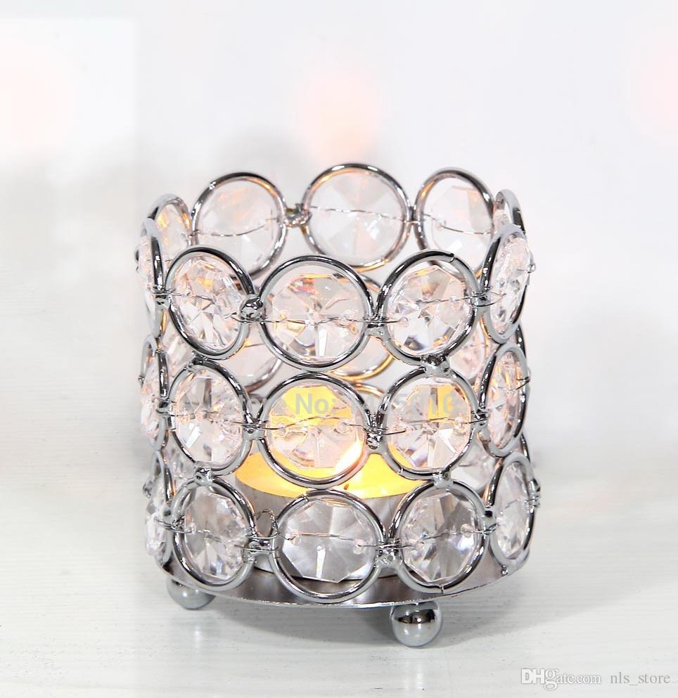 Crystal beaded bling votive candle holder tealight holder for wedding decor, home decor, gifts size: 6,5x6,5x7,5cm HWB-2603