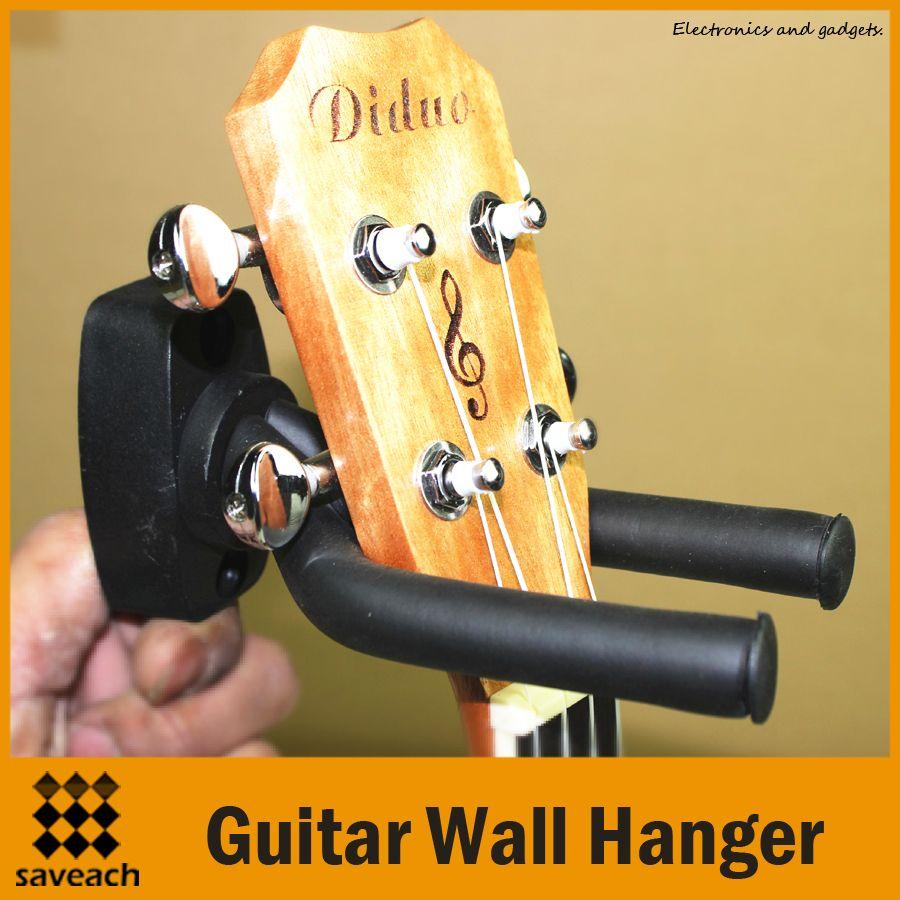 Black - Universal Adjustable Arms Guitar Wall Stand Hanger Rack Hook ...