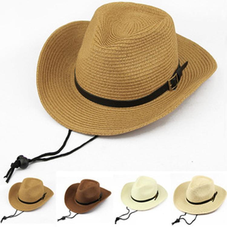 Compre Nuevas Mujeres Hombres Unisex Sombrero De Vaquero De Verano Plegable  Fedora Trilby Sombreros De Paja Playa De Ala Ancha Sombreros De Sol Gorras  Envío ... 5d478bf6c25
