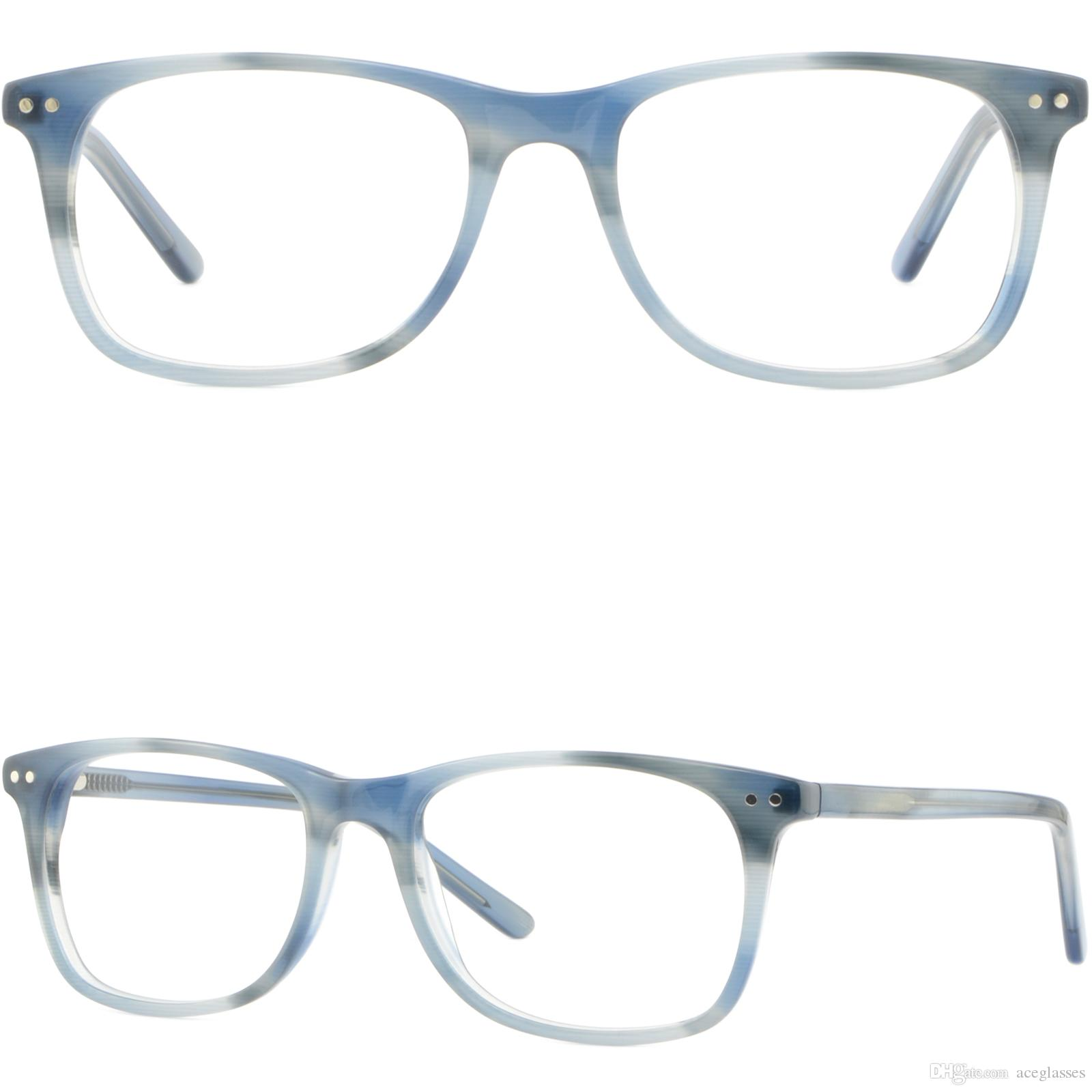 200baf55a54 Rectangular Mens Womens Plastic Frame Glasses Eyeglass Silver Dots Spring  Hinges Eyeglass Frames For Women Glasses Frames For Men From Aceglasses