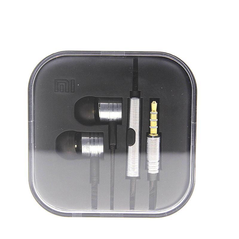 3.5mm de metal fone de ouvido xiaomi universal microfone fone de ouvido estéreo fone de ouvido para xiaomi lg samsung htc huawei iphone iphone mp3 / 4 dhl livre ear024