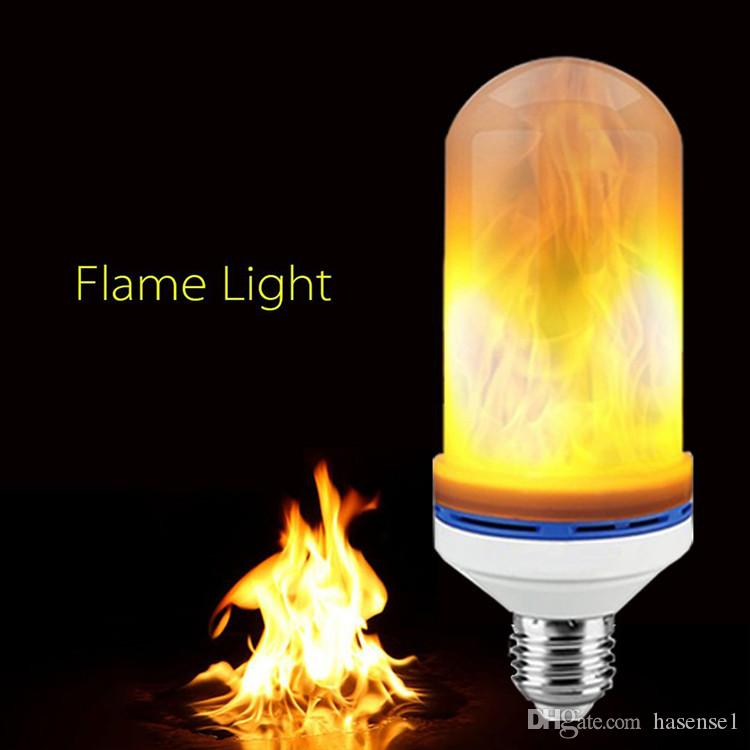 E27 Dynamic LED Flame Lights 3 Modes Effect Fire Light Bulbs Christmas Lights Atmosphere Lighting Fire Bulbs for Party Holiday