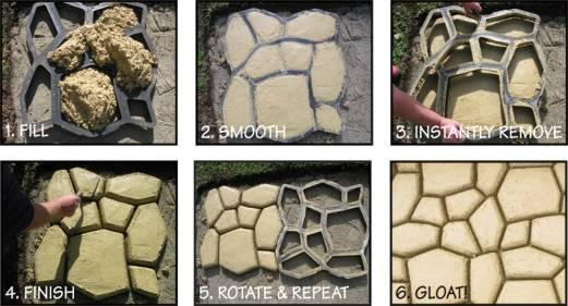 2018 Diy Concrete Walkway Mold Garden Supplies Concrete Mold For Making  Pathways Of Your Garden/Paving Mold/Concrete Mold From Ishion, $8.85 |  Dhgate.Com
