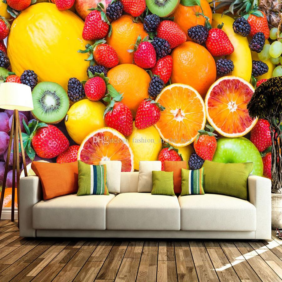 Tropical Fruit Photo Wallpaper Hd Pictures Strawberry Orange Mural ...