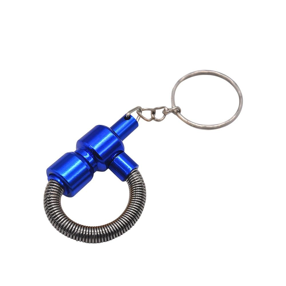 Portable Key Chain Spring Smoking Pipe Meltal Tobacco MINI Pipes Cigarette PipeCleaners Color Random