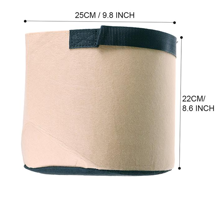 3Gal /5Gal/7Gal/10Gal Round Non-woven Fabric Plant pots Pouch Root Container Grow Bag Flower Pots Container Garden Planters