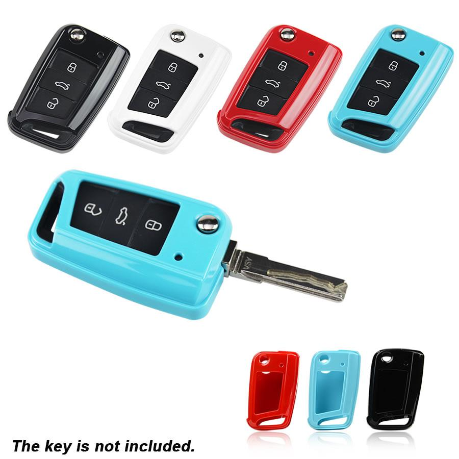 Muti Color Abs Car Key Cover For Volkswagen Golf 2015 Lamando Touran ...