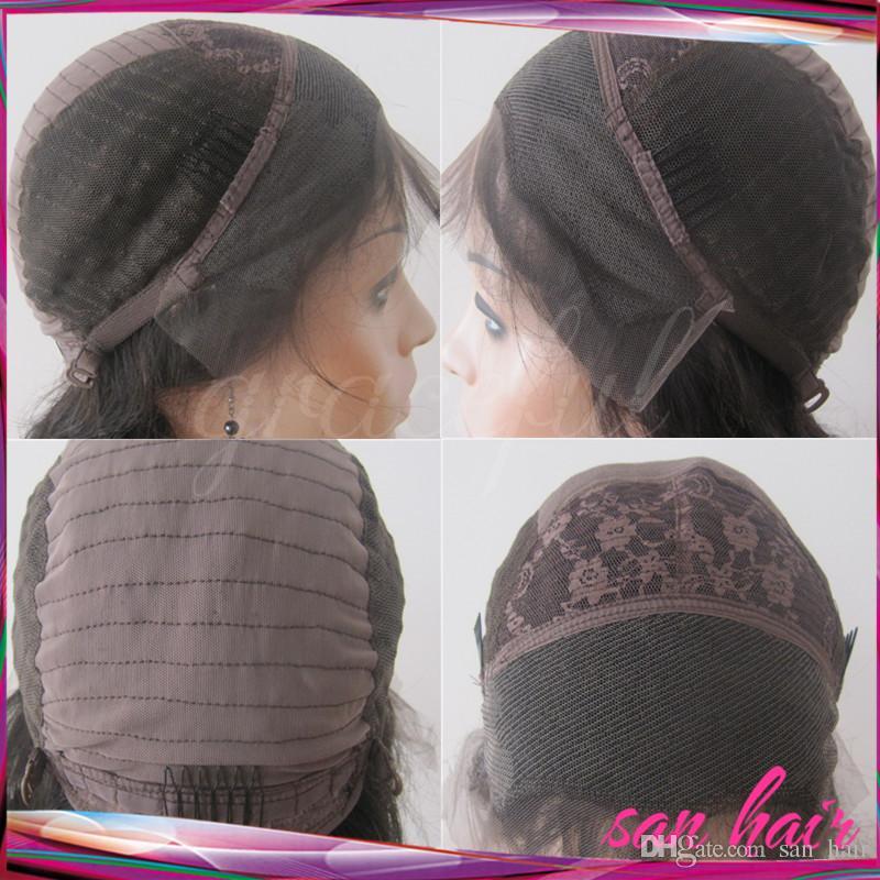 8A Full Lace Perruques De Cheveux Humains Pour Les Femmes Noires Femmes Brésiliennes Perruques Soie Top Ondulé Sans Colle Dentelle Avant Perruques De Cheveux Humains