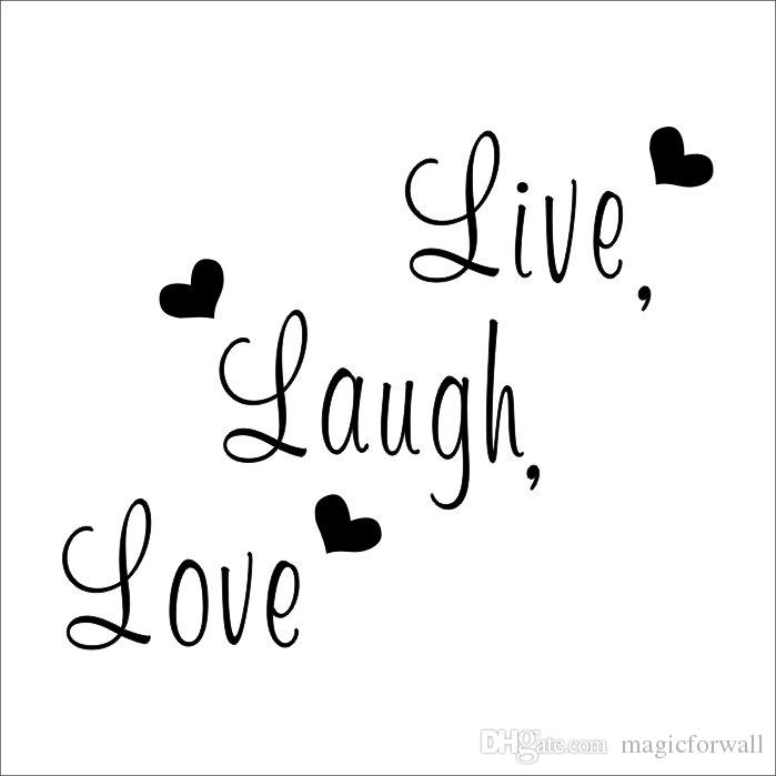 Live Laugh Love Wall Quote Decal Sticker English Words Home Decor English Proverb Wall Applique Living Room Wall Art Mural Poster