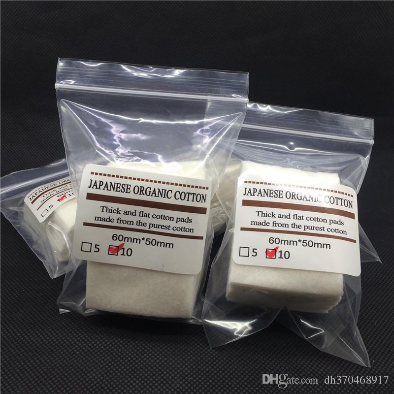 Mini pacchetto autentico giapponese puro cotone organico stoppini tessuto di cotone japan da muji fai da te rda atomizzatore atomizzatore bobine 10 pz / lotto