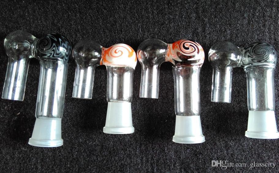 Оптовая много стиль для выбрал 19# 14# красочные стекла бонг адаптер для эго ecigarette испаритель стекла адаптер электронной сигареты