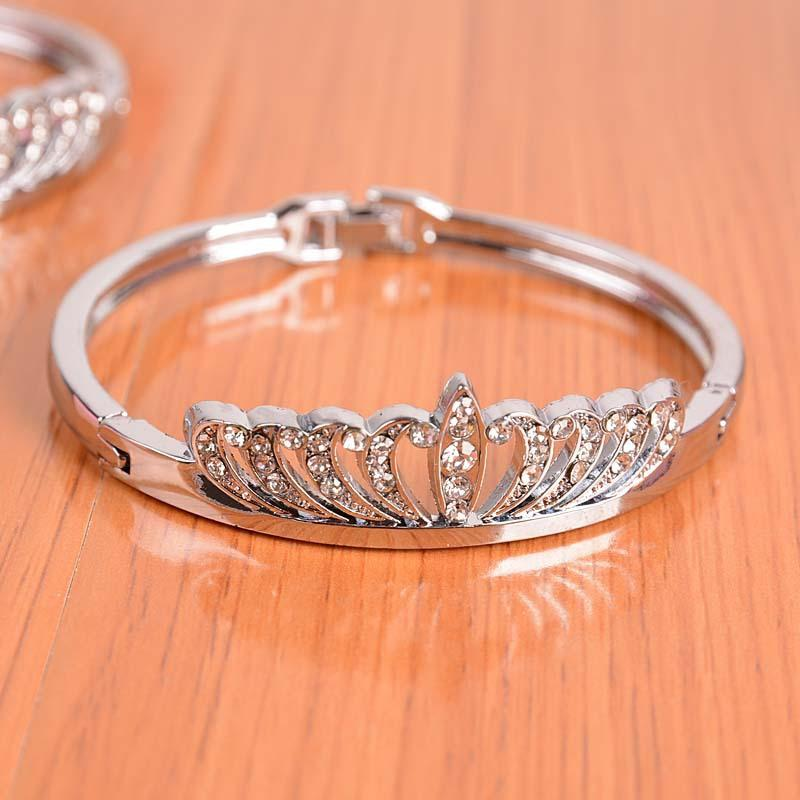 High quality Low price Fashion Crown Bracelet Diamond Bracelet
