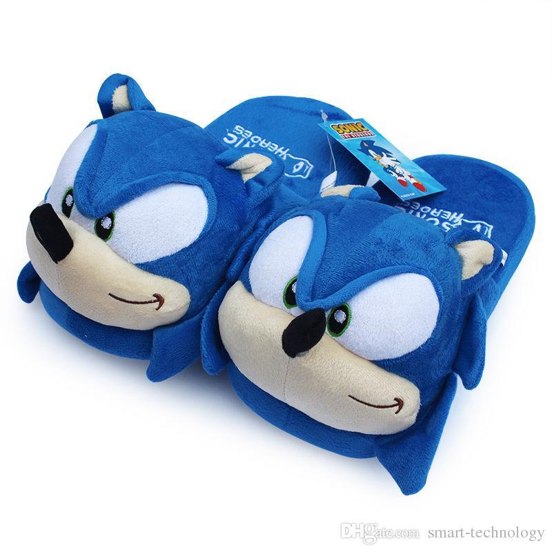 Sonic Slippers Blue Pluche Doll 11 Inch Volwassen Pluche Sonic Slippers Gratis verzending