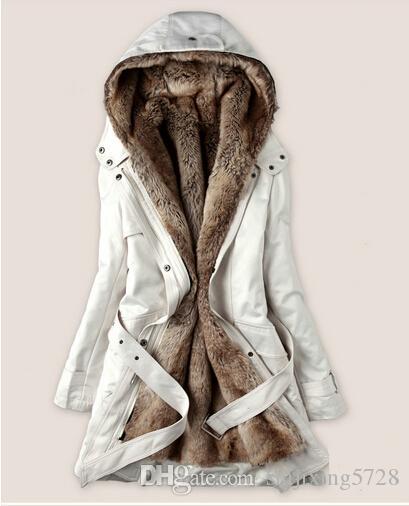 Online Cheap New 2015 Faux Fur Lining Women'S Fur Hoodies Ladies ...