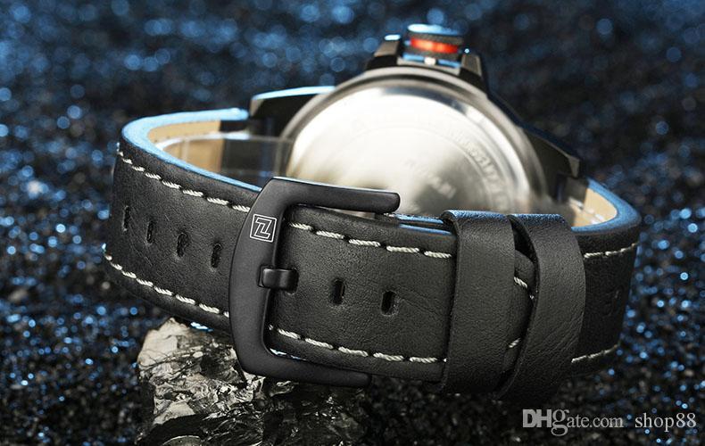 NAVIFORCE Top Brand Sport Watch Men 30M Waterproof Genuine Leather Band Military Wrist watches Male Clock Relogio Masculino
