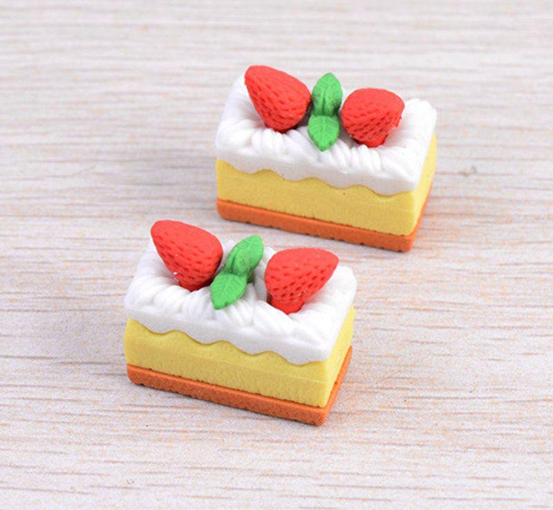Strawberry Cake miniatures figurines ornaments resin craft dollhouse bonsai decor terrarium decoracion jardin