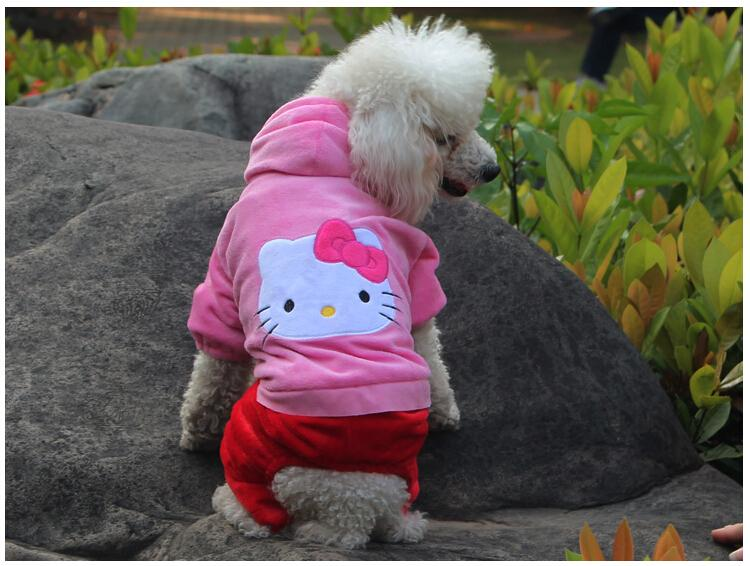 Sale hello kitty pet dog clothes \ Teddy dog clothes \ fall and winter clothes dog clothes \ poodle bichon legs clothes