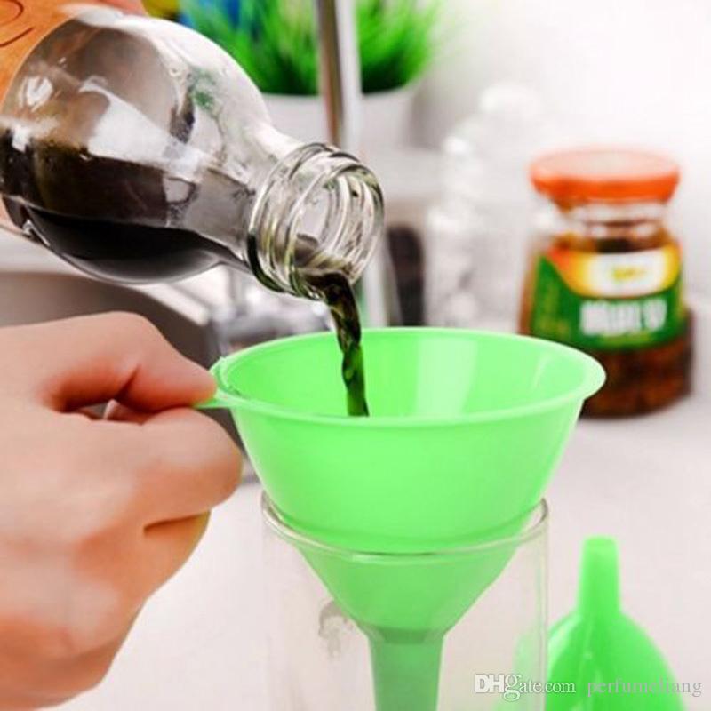 Экологичный прозрачный белый мини пластиковые духи масло жидкий диффузор бутылка воронка флакон Лаборатория Бесплатная доставка