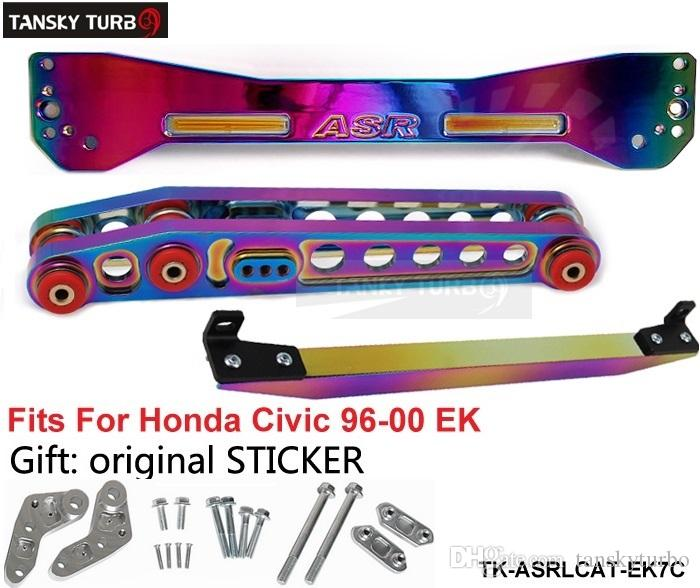 TANSKY - JDM الجدد لوني الخلفي سوبفرامي TIE BAR + LOWER التحكم FOR HONDA CIVIC EK 96-00 TK-ASRLCAT-EK7C
