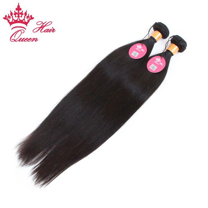Extensiones rectas virginales indias del pelo humano de la reina del pelo de la trama que envía libremente la mejor calidad