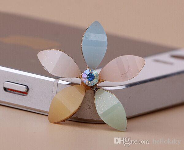 10 stks multi-emaille flower flatback cabochon voor telefoon deco # 92162