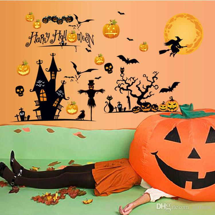 New 3D Halloween Wall Stickers Shop Window Sticker Glass Sticker Kids Room  Home Decor Wallpaper Halloween Party Wall Decoration
