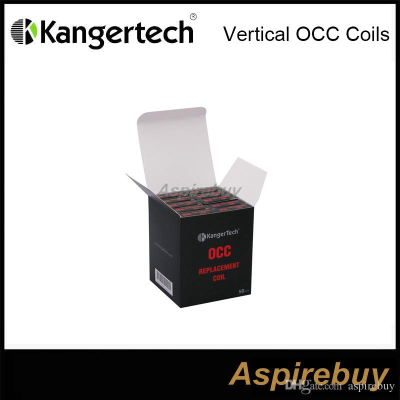 KangerTechサブタンクの新しい垂直有機コットンコイルOCCコイルヘッド0.5 1.2 1.5 HOMの取り替えコイルカンガーサブタンクナノ用OHM