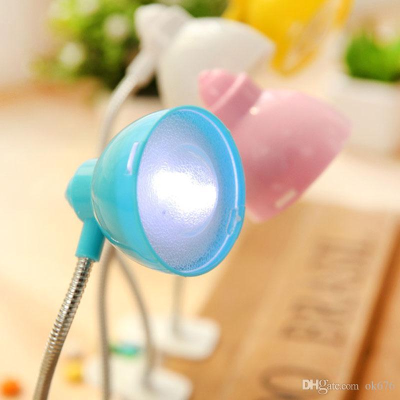 Neue Mini-LED kleine Clip Buch Lichter Leselampe verzerrt Nachtlicht kreative Leselampe Nachttisch Lichter
