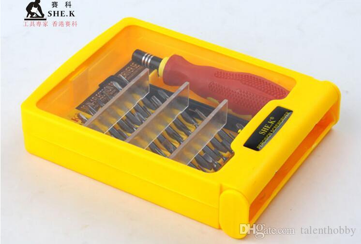 Kit de destornilladores para herramientas de reparación 32 en 1 para teléfono móvil iPhone 6 5S 4S 3GS iPad Samsung