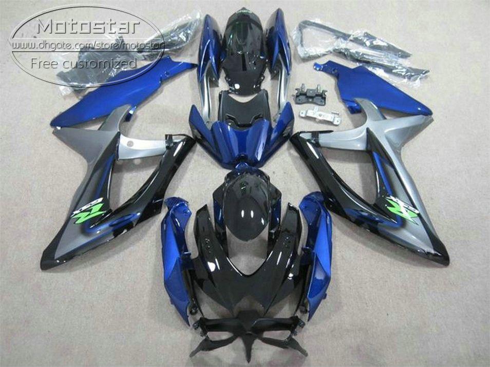 Suzuki GSXR750 GSXR600 2008-2010 K8 K9 블루 페어링 세트 GSXR 600/750 08 09 10 KS66