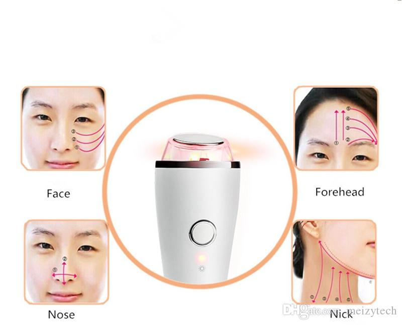 Ultrasonic Cold Hot Vibration SPA Face Eye Massager LED Photon Rechargeable Beauty Skin Care Anti Lines Wrinkles Removal