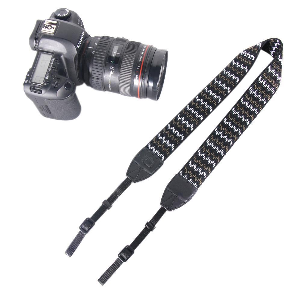 Nylon Vintage Bandoulière Courroie Sangle Ceinture Pour Nikon Canon Sony Panasonic SLR DSLR ILDC