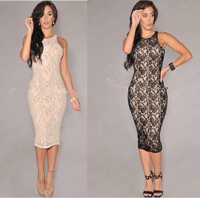 2018 2014 winter women dresses new christmas party dresses sexy lace dress fashion pencil dress lace round neck package hip slim from froggen - Christmas Party Dresses