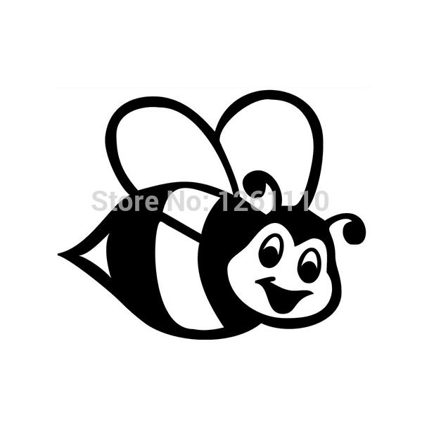 Cartoon Bumble Bee Girl Car Vinyl Sticker Graphic Decal - Vinyl stickers