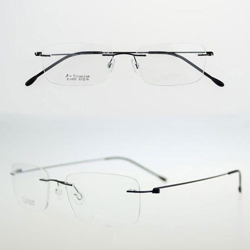 2018 Wholesale Chashma Ultralight Titanium Rimless Glasses Frame ...