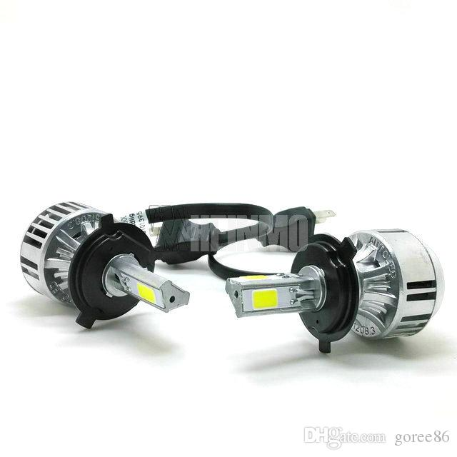 36W 3300LM H4 السيارات LED المصابيح الأمامية مل COB السيارات LED العلوي، سيارة H13 LED لمبات المصباح، 9007 LED رئيس ضوء لمبات مرحبا / لي عدة شعاع 9004