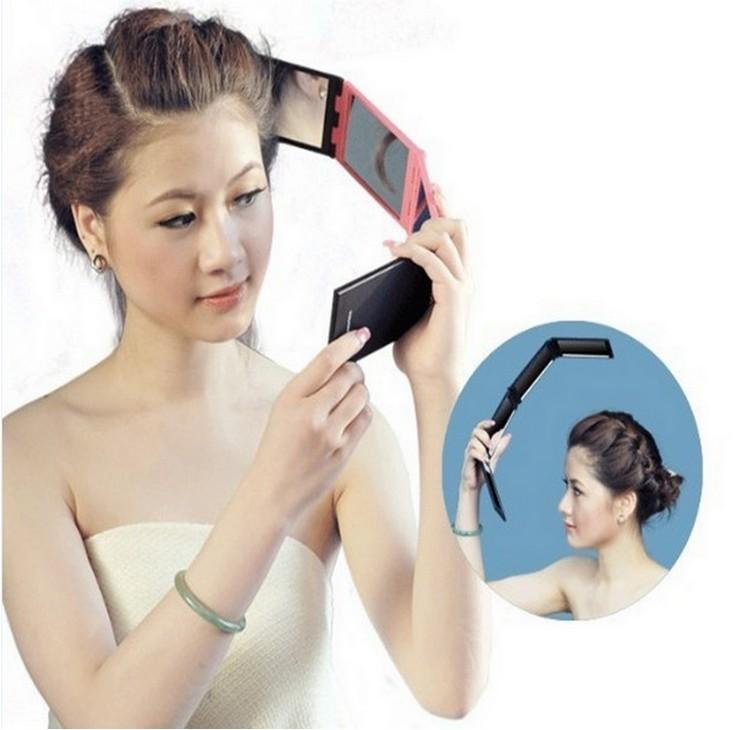 Best sales DIY Beauty portable mirror 4 Panel Expandable MIRROR Portable  multi-angle folding mirror Fast shipping