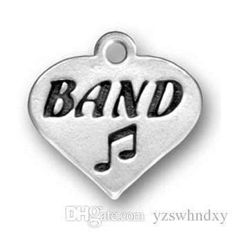 Fashion Alphabet Brand Musical Note Heart Charm Jewelry