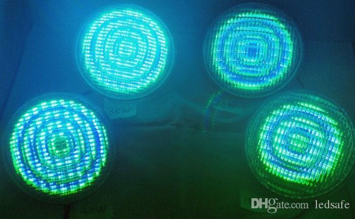 DMX512 Sem Fio RGB Síncrono LEVOU Piscina Luz 24 W À Prova D 'Água IP68 Luzes Subaquáticas Lâmpada + Controlador DMX + Adaptador de Alimentação