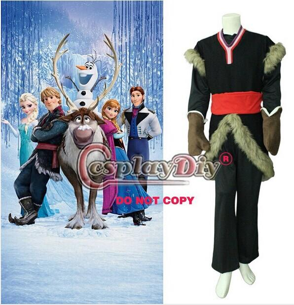 custom made kristoff costume from frozen movie cosplay costume for adult for halloween and christmas party high quality newborn halloween costume womens - High Quality Womens Halloween Costumes
