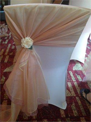 2019 Custom Made Romantic White Tulle Wedding Chair Covers
