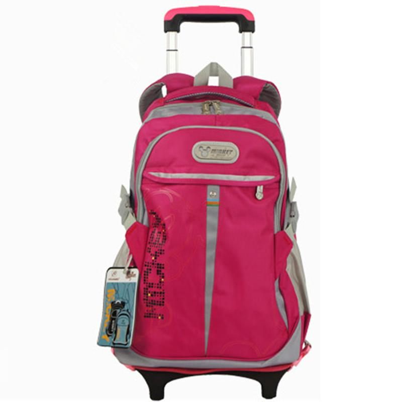 Casual Rolling Child School Bag Boys Children Trolley Backpack for Teenagers  Women Backpack Wheels Girls Waterproof Schoolbag Online with  61.72 Piece  on ... ec0799b242bc5